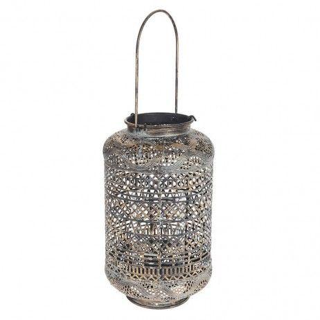 Lanterna Porta-vela Gaulin de Metal 18 x 32 cm