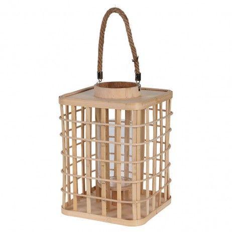 Lanterna Porta-vela de Bambu 22 x 31 cm