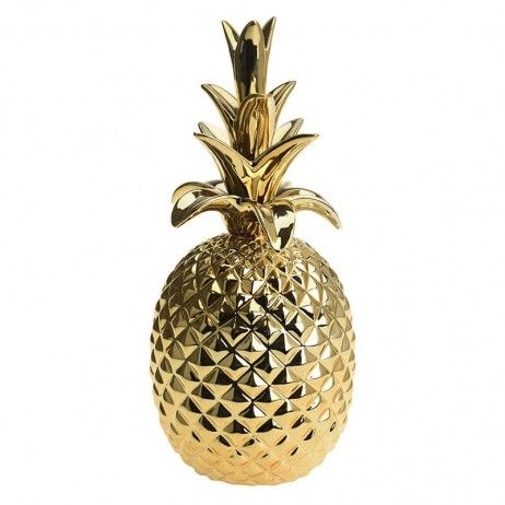 Abacaxi de Ouro Tropy de Cerâmica 32 cm